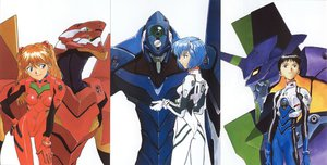 Rating: Safe Score: 26 Tags: ayanami_rei ikari_shinji jpeg_artifacts neon_genesis_evangelion soryu_asuka_langley tagme User: Anime_man
