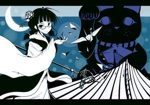 Rating: Safe Score: 22 Tags: akizuki_ritsuko animal blue braids cat flowers glasses idolmaster moon natsu_(anta_tte_hitoha) staff twintails User: Aesyl