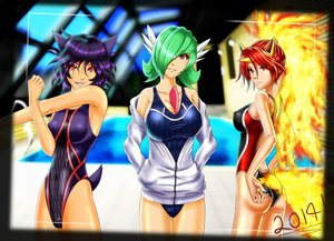Rating: Safe Score: 41 Tags: anthropomorphism breasts camera cleavage gardevoir green_hair haunter iforher pokemon purple_hair rapidash red_eyes red_hair swimsuit User: Septentrion_P