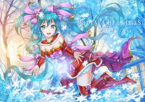 Rating: Safe Score: 19 Tags: christmas crazypen hatsune_miku long_hair twintails vocaloid User: sadodere-chan