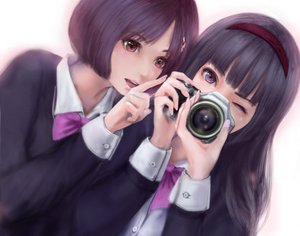Rating: Safe Score: 22 Tags: 2girls camera cropped mamoru realistic User: luckyluna