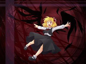 Rating: Safe Score: 11 Tags: blonde_hair red_eyes rumia short_hair touhou wings User: majinjynxi