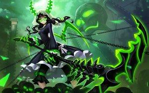 Rating: Safe Score: 197 Tags: black_rock_shooter chain glasses green horns liang_xing skull takanashi_yomi weapon wings User: birdy73