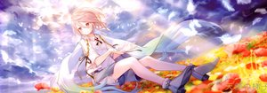 Rating: Safe Score: 61 Tags: all_male animal bird boots clouds dualscreen flowers ibara_riato male original pink_eyes pink_hair scan short_hair shorts sky trap User: Nepcoheart