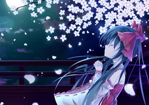 Rating: Safe Score: 79 Tags: black_hair cherry_blossoms hakurei_reimu japanese_clothes loli long_hair miko moon night tianya_beiming touhou User: humanpinka