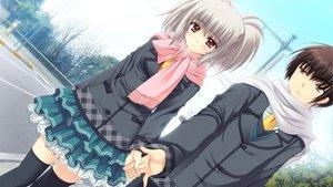 Rating: Safe Score: 32 Tags: game_cg kona_nako nishimata_aoi scarf seifuku sekai_seifuku_kanojo tagme tagme_(character) thighhighs User: oranganeh