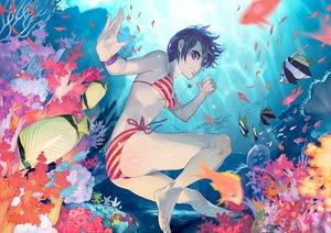 Rating: Questionable Score: 57 Tags: animal bikini fish purple_eyes swimsuit temoshi underwater water User: w7382001