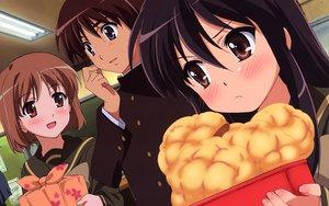 Rating: Safe Score: 29 Tags: blush food sakai_yuuji shakugan_no_shana shana yoshida_kazumi User: rargy