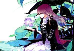 Rating: Safe Score: 50 Tags: flowers hijiri_byakuren long_hair purple_hair sam_ashton touhou yellow_eyes User: RyuZU
