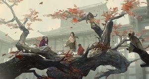 Rating: Safe Score: 89 Tags: animal autumn black_hair building divine_child_of_rejuvenation huanxiang_heitu long_hair sekiro:_shadows_die_twice tree User: RyuZU