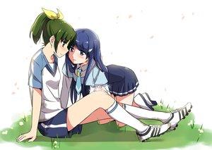 Rating: Safe Score: 44 Tags: 2girls aoki_reika midorikawa_nao misu_kasumi petals precure seifuku smile_precure! User: opai