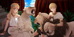 Rating: Safe Score: 73 Tags: animal fate/stay_night gilgamesh saber User: Tensa