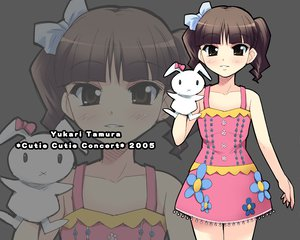 Rating: Safe Score: 9 Tags: blush bow brown_eyes brown_hair bunny doll dress flat_chest gray puppet short_hair tamura_yukari twintails zoom_layer User: Oyashiro-sama