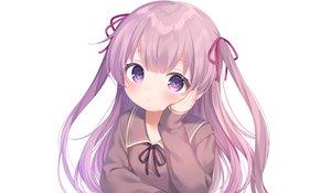 Rating: Safe Score: 61 Tags: blush close komachi_pochi loli long_hair original purple_eyes purple_hair school_uniform twintails white User: otaku_emmy