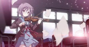 Rating: Safe Score: 25 Tags: brown_eyes glasses instrument izumi_bell nagato_yuki paper purple_hair school_uniform short_hair suzumiya_haruhi_no_yuutsu violin waifu2x User: gnarf1975