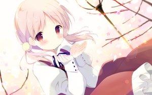 Rating: Safe Score: 85 Tags: blush cherry_blossoms dress kiriyama_sakura petals pink_hair red_eyes ribbons sakura_musubi shiratama twintails User: Flandre93