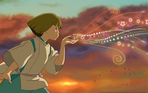 Rating: Safe Score: 7 Tags: nigihayami_kohakunushi sky spirited_away User: Eruku