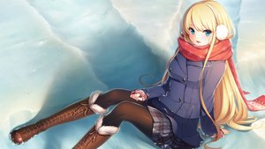 Rating: Safe Score: 129 Tags: aqua_eyes bethly_rose_daisley blonde_hair boots earmuffs game_cg gin'iro_haruka koizumi_amane long_hair pantyhose scarf skirt snow User: RyuZU