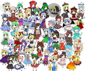 Rating: Safe Score: 22 Tags: aki_minoriko aki_shizuha alice_margatroid animal_ears black_hair blonde_hair blue_eyes blue_hair book brown_eyes brown_hair bunny_ears bunnygirl catgirl chen chibi chinese_clothes chinese_dress cirno daiyousei demon doll dress ex_keine fairy flandre_scarlet foxgirl fujiwara_no_mokou gray_hair green_eyes green_hair group hakurei_reimu hat hieda_no_akyuu hong_meiling horns houraisan_kaguya ibuki_suika inaba_tewi izayoi_sakuya japanese_clothes kagiyama_hina kamishirasawa_keine kawashiro_nitori kazami_yuuka kimoke-ne kirisame_marisa koakuma konpaku_youmu letty_whiterock lily_black lily_white long_hair luna_child lunasa_prismriver lyrica_prismriver maid maribel_han medicine_melancholy merlin_prismriver miko multiple_tails myon mystia_lorelei onozuka_komachi patchouli_knowledge pink_hair purple_eyes purple_hair red_eyes red_hair reisen_udongein_inaba remilia_scarlet ribbons rumia saigyouji_yuyuko scythe shameimaru_aya shanghai_doll shiki_eiki short_hair skirt star_sapphire sunny_milk sword tail thighhighs touhou usami_renko vampire weapon wings witch wriggle_nightbug yagokoro_eirin yakumo_ran yakumo_yukari yellow_eyes User: Oyashiro-sama