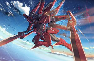 Rating: Safe Score: 75 Tags: clouds mecha mobile_suit_gundam mobile_suit_gundam_00 robot sky starlight_(stack) stars weapon User: Maboroshi