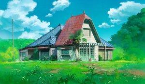 Rating: Safe Score: 47 Tags: building clouds gotsukii nobody scenic sky tonari_no_totoro tree User: luckyluna