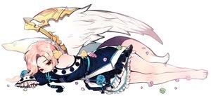 Rating: Safe Score: 51 Tags: animal barefoot bird blonde_hair braids flowers mabinogi red_eyes rimsuk tagme_(character) tail wings User: BattlequeenYume