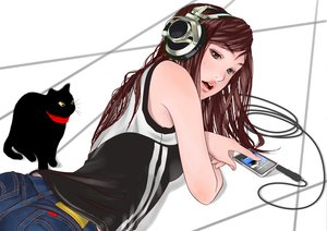 Rating: Safe Score: 45 Tags: animal cat headphones tagme User: pantu