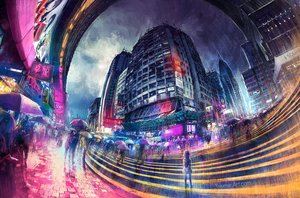 Rating: Safe Score: 74 Tags: building city clouds loli original rain scenic sky umbrella water watermark wenqing_yan_(yuumei_art) User: BattlequeenYume