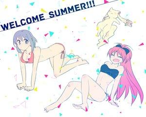 Rating: Safe Score: 25 Tags: bandaid bikini kyuubee mahou_shoujo_madoka_magica miki_sayaka mizuki_(flowerlanguage) sakura_kyouko swimsuit User: FormX