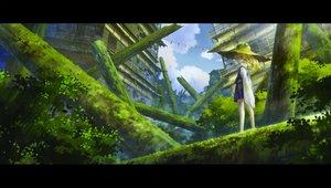 Rating: Safe Score: 58 Tags: building city hat miso_pan moriya_suwako ruins touhou User: RyuZU