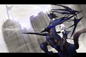 Rating: Safe Score: 40 Tags: pixiv_fantasia shiroganeusagi weapon white_hair User: FoliFF