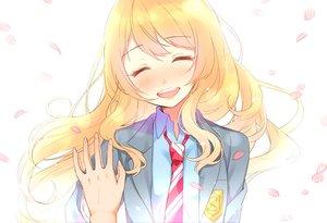 Rating: Safe Score: 45 Tags: blonde_hair blush miyazono_kaori nerunnn petals school_uniform shigatsu_wa_kimi_no_uso User: mattiasc02