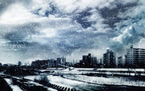 Rating: Safe Score: 127 Tags: building city clouds gray polychromatic scenic sky snow stairs tagme_(artist) water winter User: FoliFF