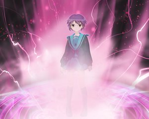 Rating: Safe Score: 33 Tags: brown_eyes fate_(series) fate/stay_night glasses kneehighs magic nagato_yuki parody purple_hair school_uniform short_hair skirt suzumiya_haruhi_no_yuutsu User: Oyashiro-sama