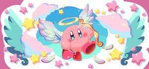 Rating: Safe Score: 15 Tags: angel bow_(weapon) clouds halo kirby kirby_(character) ninjya_palette stars weapon wings User: otaku_emmy