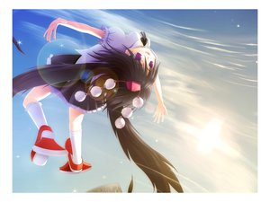 Rating: Safe Score: 9 Tags: blue shameimaru_aya sky touhou User: w7382001