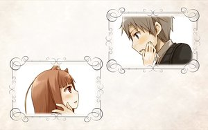 Rating: Safe Score: 9 Tags: animal_ears brown_hair craft_lawrence gray_eyes gray_hair horo long_hair red_eyes short_hair spice_and_wolf white wolfgirl User: wanjas