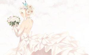 Rating: Safe Score: 55 Tags: aqua_eyes blonde_hair boku_wa_tomodachi_ga_sukunai butterfly cait dress flowers kashiwazaki_sena rose short_hair wedding_attire white User: BattlequeenYume