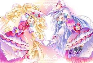 Rating: Safe Score: 17 Tags: aisaki_emiru blonde_hair blue_hair bow gloves long_hair lulu_(precure) precure purple_eyes thighhighs twintails yuutarou_(fukiiincho) User: RyuZU