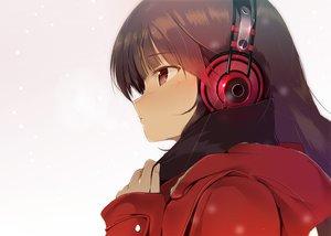 Rating: Safe Score: 266 Tags: brown_eyes brown_hair close headphones hoodie long_hair machimura_komori original scarf snow winter User: Flandre93