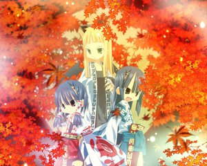 Rating: Safe Score: 9 Tags: autumn japanese_clothes miko tagme User: Oyashiro-sama