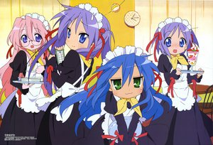 Rating: Safe Score: 22 Tags: blue_hair glasses hiiragi_kagami hiiragi_tsukasa horiguchi_yukiko izumi_konata lucky_star maid pink_hair scan takara_miyuki User: Oyashiro-sama