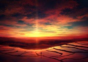 Rating: Safe Score: 72 Tags: animal clouds dog hat landscape mks original scenic sky sunset User: FormX