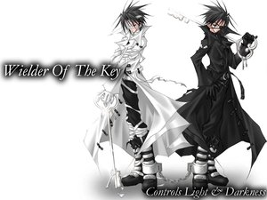 Rating: Safe Score: 29 Tags: all_male bandage black_hair boots chain eyepatch gloves male white User: Oyashiro-sama