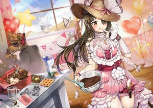 Rating: Safe Score: 38 Tags: apron black_hair blush bow braids brown_eyes brown_hair butterfly chocolate garter gijang gun hat kouyakoudou long_hair male mask petals red_eyes ribbons short_hair valentine weapon User: RyuZU