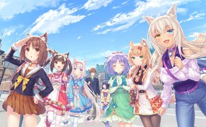 Rating: Safe Score: 61 Tags: animal_ears azuki_(sayori) bell bicolored_eyes brown_hair catgirl chocola_(sayori) cinnamon_(sayori) clouds coconut_(sayori) collar dark_skin dress game_cg group loli lolita_fashion long_hair male maple_(sayori) minazuki_kashou minazuki_shigure nekopara neko_works orange_hair purple_hair sayori school_uniform sky tail twintails vanilla_(sayori) white_hair User: BattlequeenYume