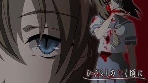 Rating: Safe Score: 126 Tags: blood blue_eyes brown_hair higurashi_no_naku_koro_ni ryuuguu_rena school_uniform tie User: 秀悟