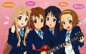 Rating: Safe Score: 22 Tags: akiyama_mio guitar hirasawa_yui instrument k-on! kotobuki_tsumugi tainaka_ritsu User: pantu