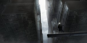 Rating: Safe Score: 61 Tags: asuteroid building city clouds long_hair original ruins scenic sky techgirl white_hair User: BattlequeenYume