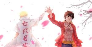 Rating: Safe Score: 153 Tags: all_male bai_yemeng cherry_blossoms crossover flowers male monkey_d_luffy naruto naruto_shippuden one_piece petals uzumaki_naruto User: Shupa